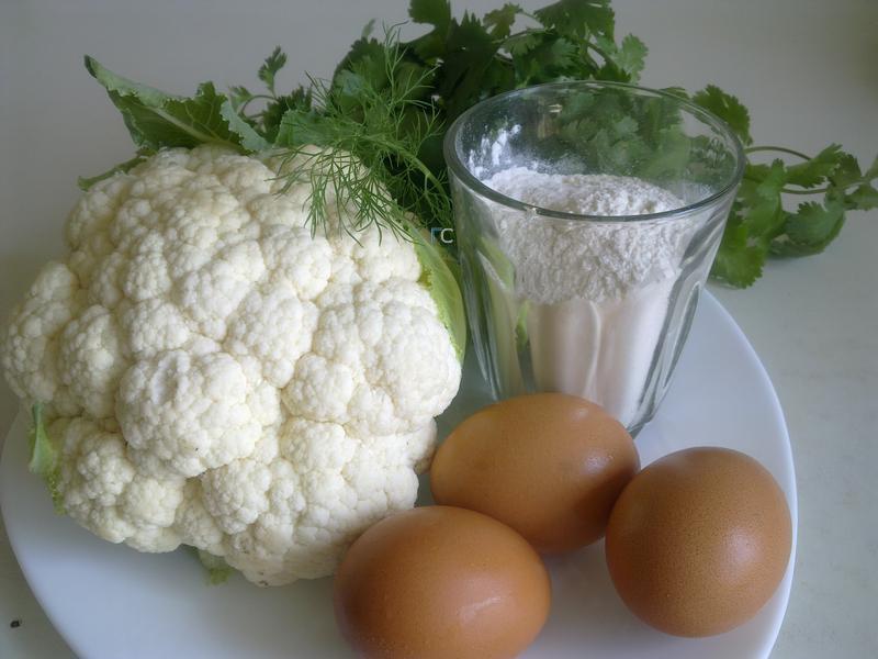 ингредиенты для цветной капусты в кляре