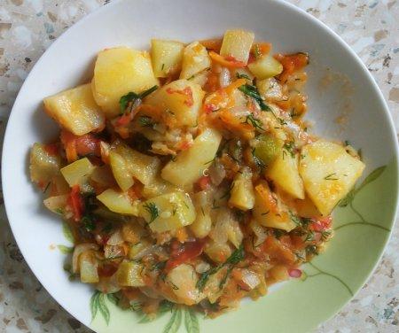 рагу с картошкой и кабачками