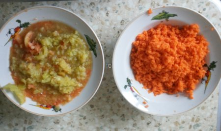 перец и морковь для баклажанной икры