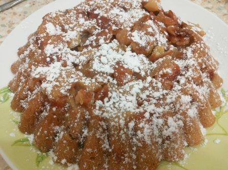 постная шарлотка с яблоками рецепт с фото