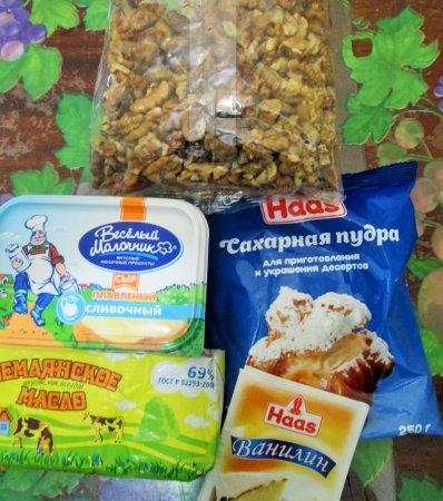 продукты для крема