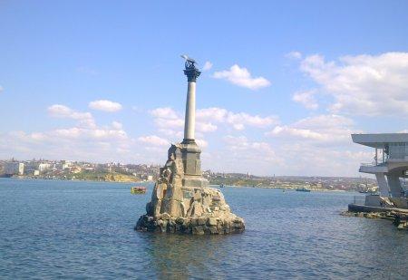 Крым Севастополь памятник затопленным кораблям