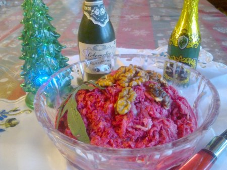 свекольный салат с киви