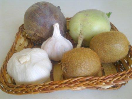 продукты для салата из свеклы с киви
