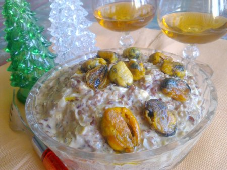 салат из морепродуктов рецепт с фото