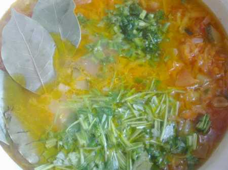 зелень в рассольнике
