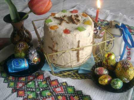 праздничный стол с пасхой