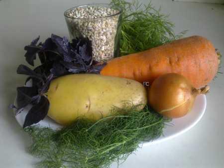 овощи и перловка