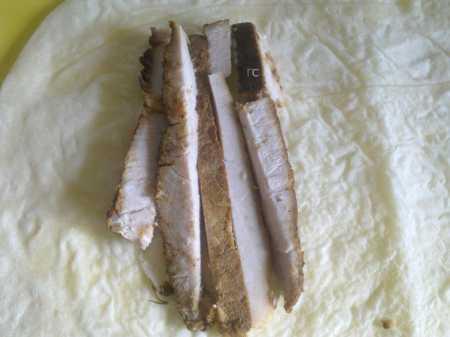 мясо на лаваше