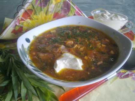 рецепт зеленого борща с щавелем и яйцом