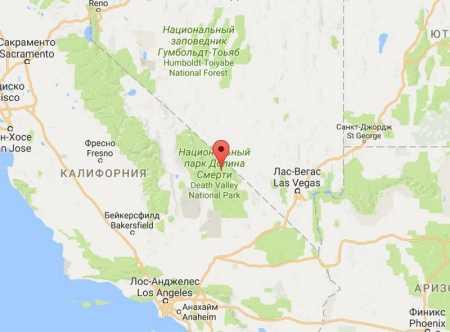 Долина Смерти на карте