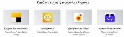кэшбэк Яндекса