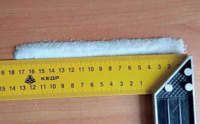 отмерить линейкой сколько граммов